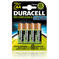 Duracell StayCharged PreCharged Batteries