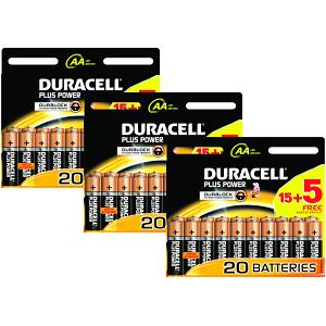 Duracell Plus Power AA Batteries 60 pack (MN1500-X60)