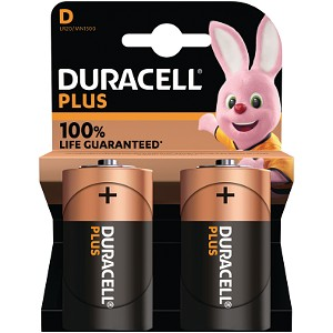 Duracell Plus Power D Size (Pack of 2)