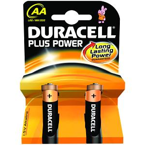 Duracell Plus Power AA 2 Pack (MN1500B2)