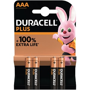 Duracell Plus Power AAA 4 Pack (MN2400B4)