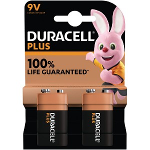 Duracell Plus Power 9v Battery Pack of 2 (MN1604B2)