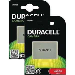 Duracell DR9933 Twin Pack Batteries 7.4v 1000mAh (BUND9933)