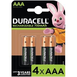 Rechargeable AAA 750mAh - 4 Pack