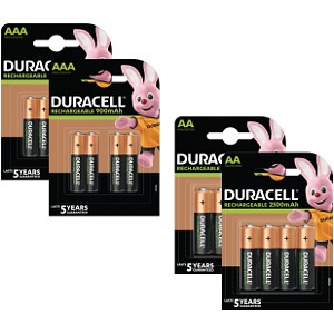 Duracell Pre-Charged AA & AAA 16 Pack