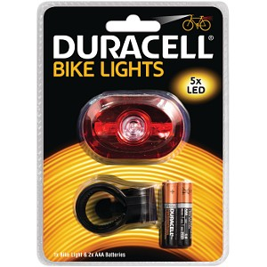 Duracell 5 LED  Rear Bicycle Light