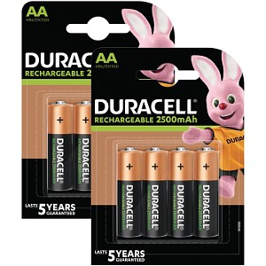 Duracell Pre-Charged AA 2500mAh 8 Pack