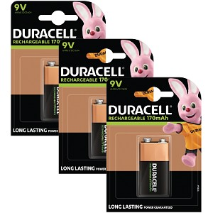 Duracell Rechargeable 9V Triple Pack