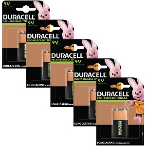 Duracell Rechargeable 9V Five Pack