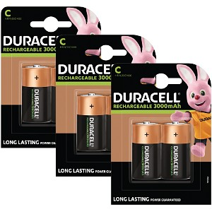 Duracell C size Rechargeable 6 Pack