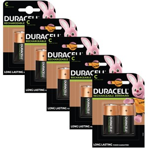 Duracell C size Rechargeable 10 Pack