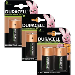 Duracell Rechargeable D Size 6 Pack
