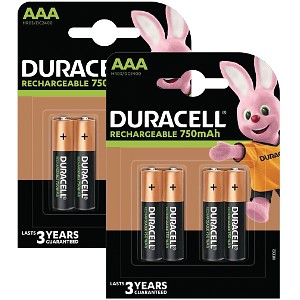 Duracell AAA 750mAh Rechargeable 8 Pack