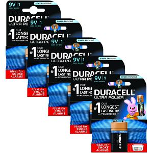 Duracell Ultra Power 9V  Five Pack