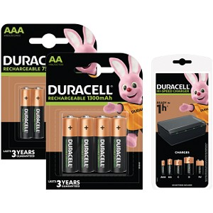 Duracell Multi-Charger with 4 AA & AAA Batteries (BUN0073A-UK)