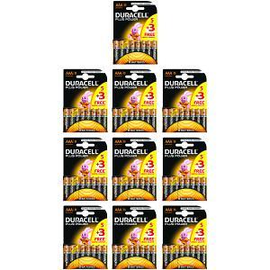 Duracell Plus Power AAA 10 Packs of 8 (MN2400B5+3BULK)
