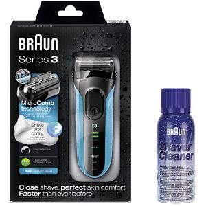 Braun Series3 340s Shaver & FREE Cleaner (BRNBUN002)