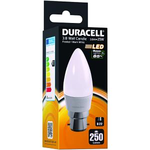 LED B22 3.8W Frosted Candle Bulb