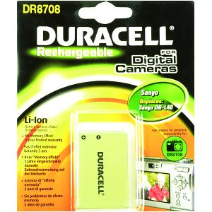 Duracell Digital Camera Battery 3.7v 1150mAh (DR8708)