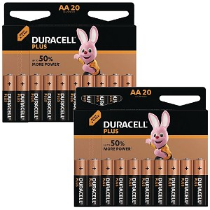 Duracell Plus Power AA Batteries 40 pack (MN1500-X40)