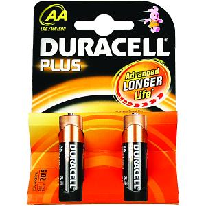 Duracell Plus AA Batteries (2 Pack) (MN1500-X2)