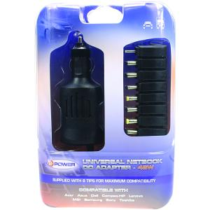Aspire One AOD250-1383 Car Adapter (Multi-Tip)